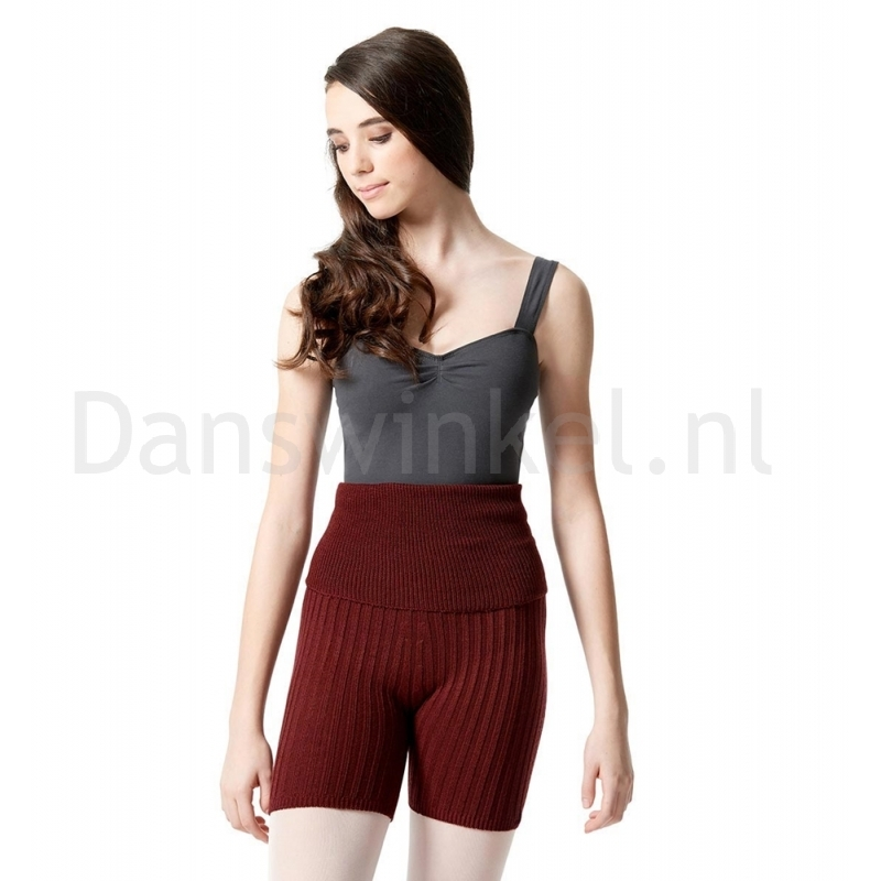 Lulli Dames Warm-Up Shorts burgundy