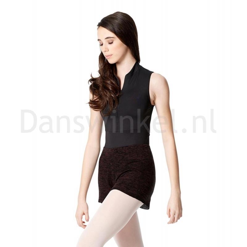 Lulli Dames knitted Warm-Up Shorts Burgundy