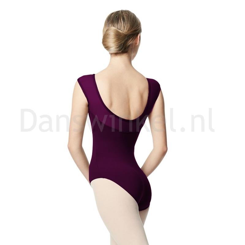 Lulli Dames Balletpak Nikita Aubergine rug achter