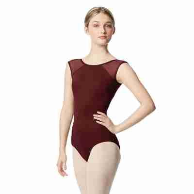 Lulli Nikita LUB348 Dames Balletpak Burgundy met gaas
