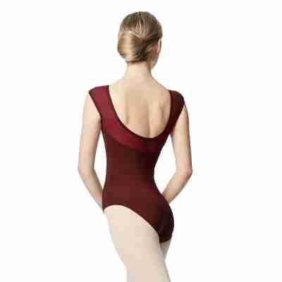 Lulli Nikita LUB348 Dames Balletpak bordeaux met hoge hals