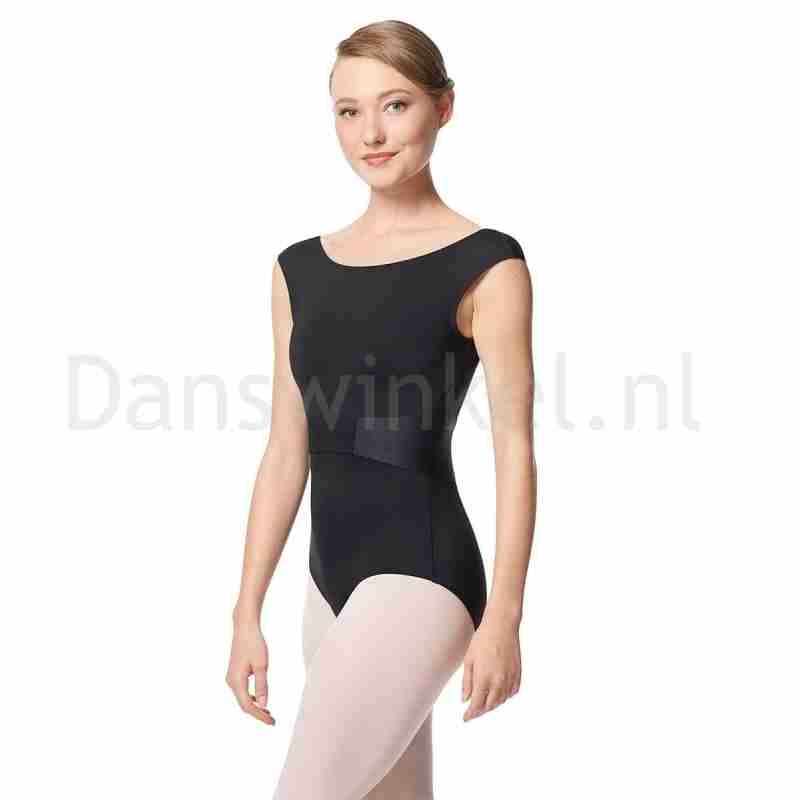 Lulli Dames Balletpak Satine LUF647 met klassieke Kapmouwtjes