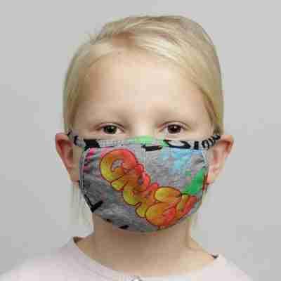 Papillon Mondkapje met Graffiti print PK7076 Kinderen