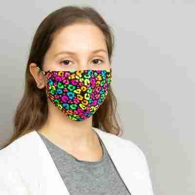 Papillon PA7076 Neon panterprint mondkapje voor volwassen herbruikbaar