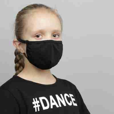 Papillon PK7076 Zwart mondkapje voor kinderen herbruikbaar