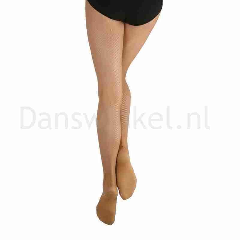 Capezio Professionele Netpanty voor dans Naadloos 3000 suntan