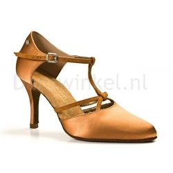 Portdance PD120 Premium Dark Tan Satin