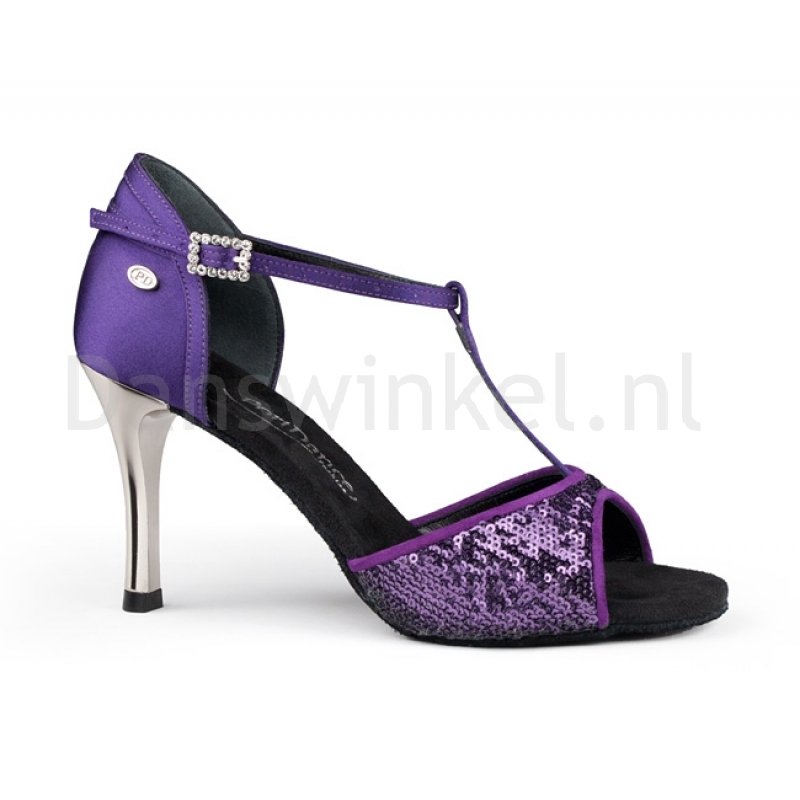 portdance dansschoenen paars voor salsa