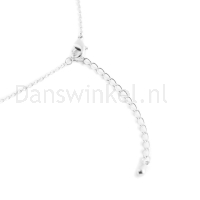Rumpf ketting met spitzen hanger in het zilver