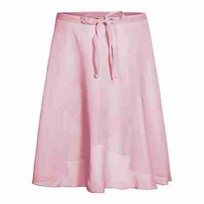 Rumpf chiffon wikkelrok roze voor ballet 3050