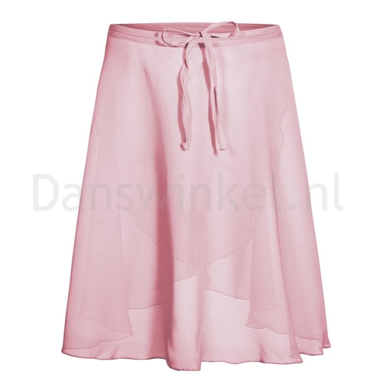 Rumpf chiffon wikkelrok roze voor ballet
