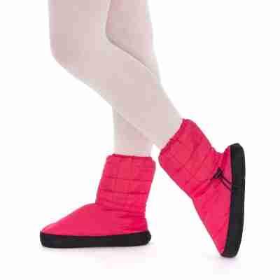 Russian Pointe gewatteerde WarmUp ballet Booties rood om voeten warm te houden