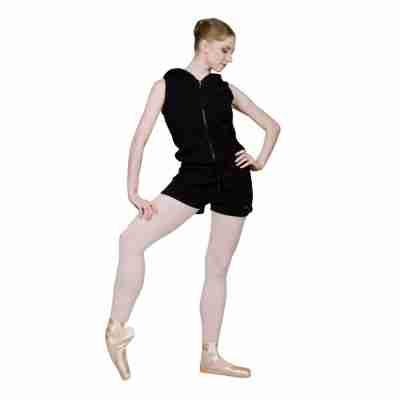 Sansha Zwarte Warm-up Jumpsuit met Capuchon
