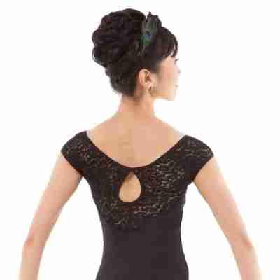 Sansha Annette L3536 Zwart Balletpak met Kant voor Dames