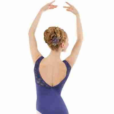 Sansha Balletpak Aylin navy achterkant