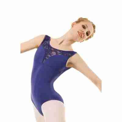 Sansha Blauw Balletpak zonder mouwen voor Dames