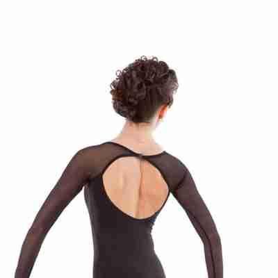 Sansha Balletpak Sabryia zwart achterkant