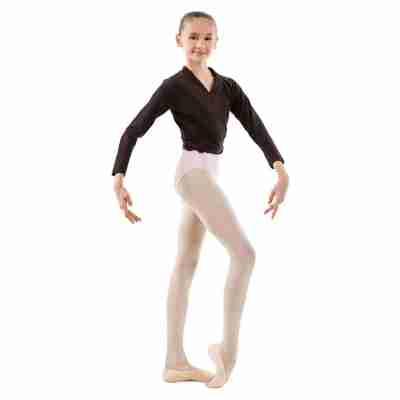 Sansha Candy G22C Wikkelvestje Zwart voor Ballet