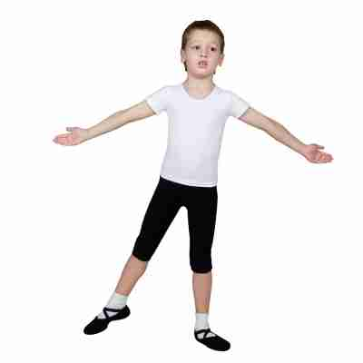 Sansha Zwarte Dansbroek Half voor Jongens en Meisjes