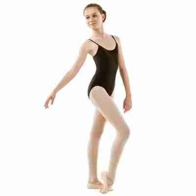 Sansha Stacie Zwart Balletpak met Ronde Hals