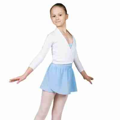 Sansha Suzy Wit Balletvest voor Kinderen Katoen en Lycra