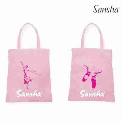 Sansha Katoenen Shopper met Afbeelding Ballerina