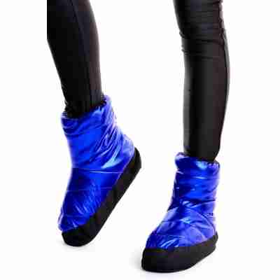 Sansha Wood Tibet Metallic Warm-Up Booties Blauw