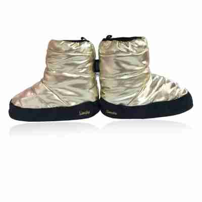 Sansha Wood Tibet Metallic Warm-Up Booties Goud