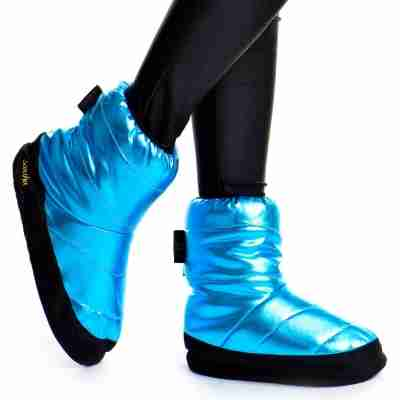 Sansha Wood Tibet Metallic Warm-Up Booties Lichtblauw