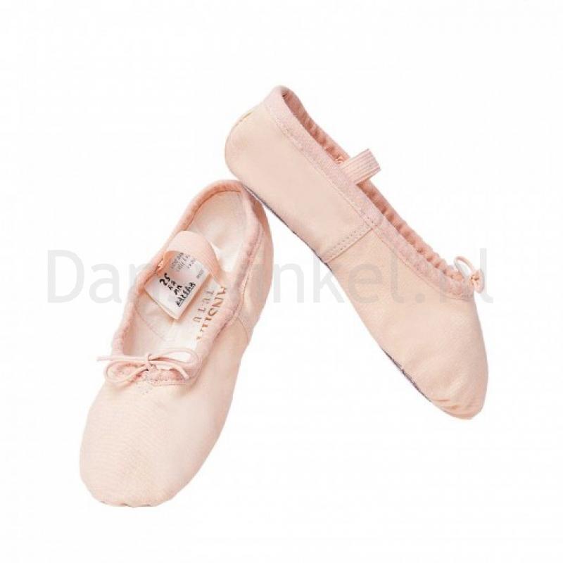 Sansha Tutu 4C Canvas Balletschoenen met Doorlopende Zool