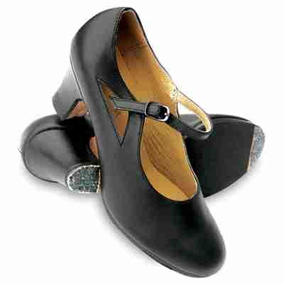 Sansha Valencia FL3L Zwarte Flamencoschoenen met 6CM Hak