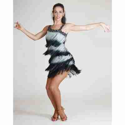 Santoria Atlantica Latin Fringe Dress DR7041