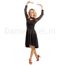 SoDanca Ballroom jurk zwart Roma kant
