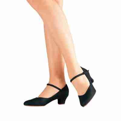 SoDanca Character Shoe met leren zool CH50 zwart 4 cm hak