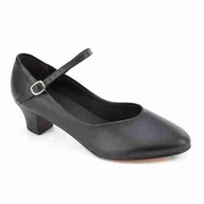 SoDanca Character Shoe met leren zool CH50 zwart