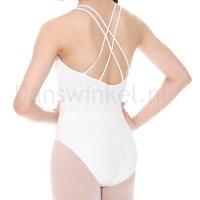 Kinder balletpak So Danca SL-19 wit dubbele spaghettibandjes