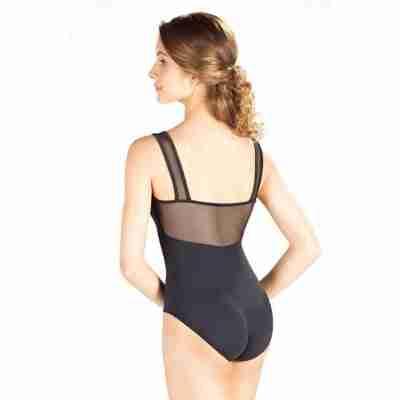 SoDanca SL-20 zwart balletpakje met mesh rug