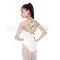 Wit balletpak So Danca SL-19 voor Kinderen met lage rug