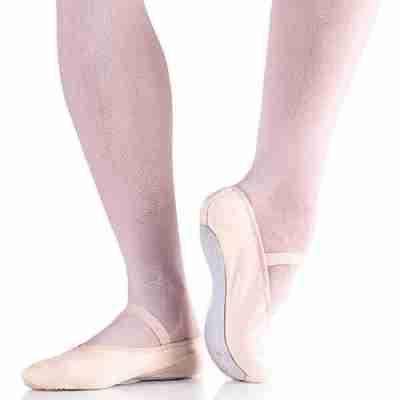 So Danca BAE24 Canvas Balletschoenen met Doorlopende Suede Zool