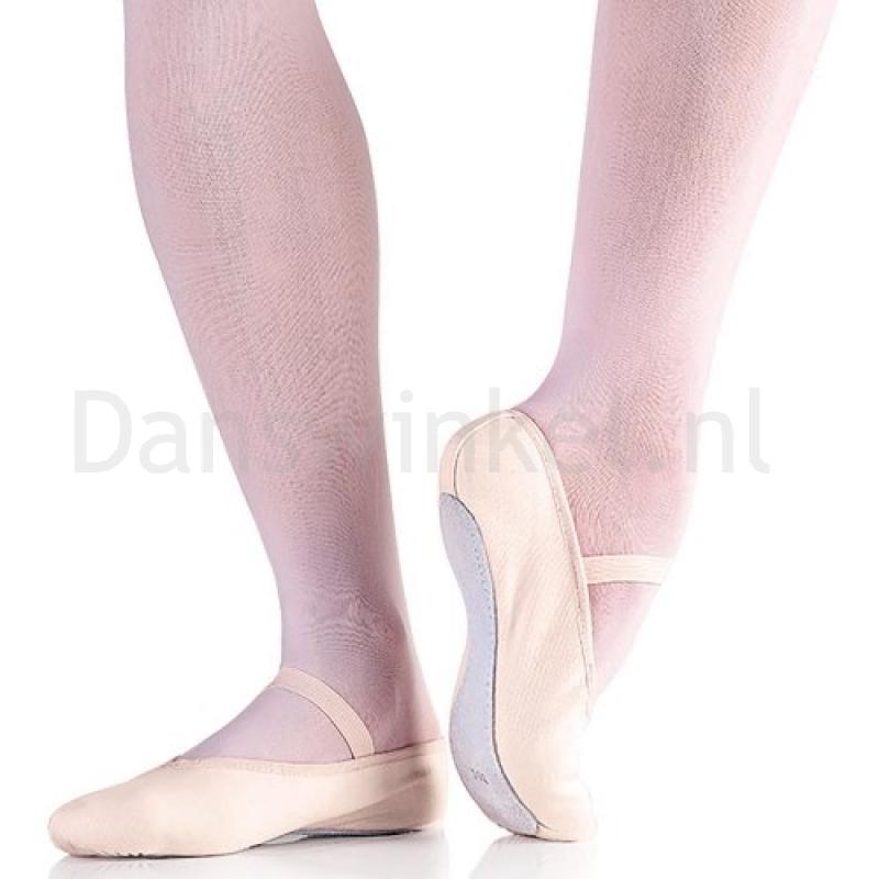 So Danca BAE24 Canvas Balletschoenen met Doorlopende Suède Zool