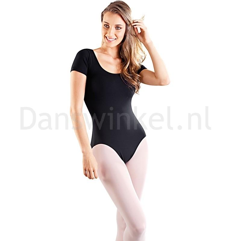 So Danca RDE8002 dames balletpakje in het zwart met korte mouwtjes
