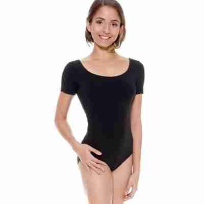 So Danca zwart balletpakje met ronde halslijn RDE8002