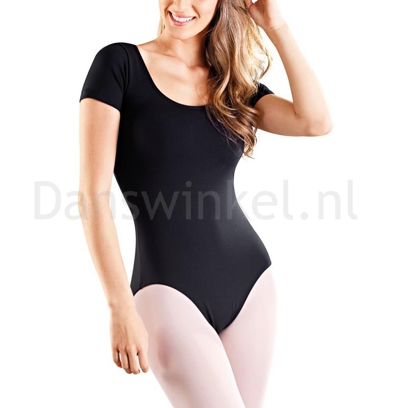 SoDanca RDE8002 dames balletpakje met korte mouwen zwart