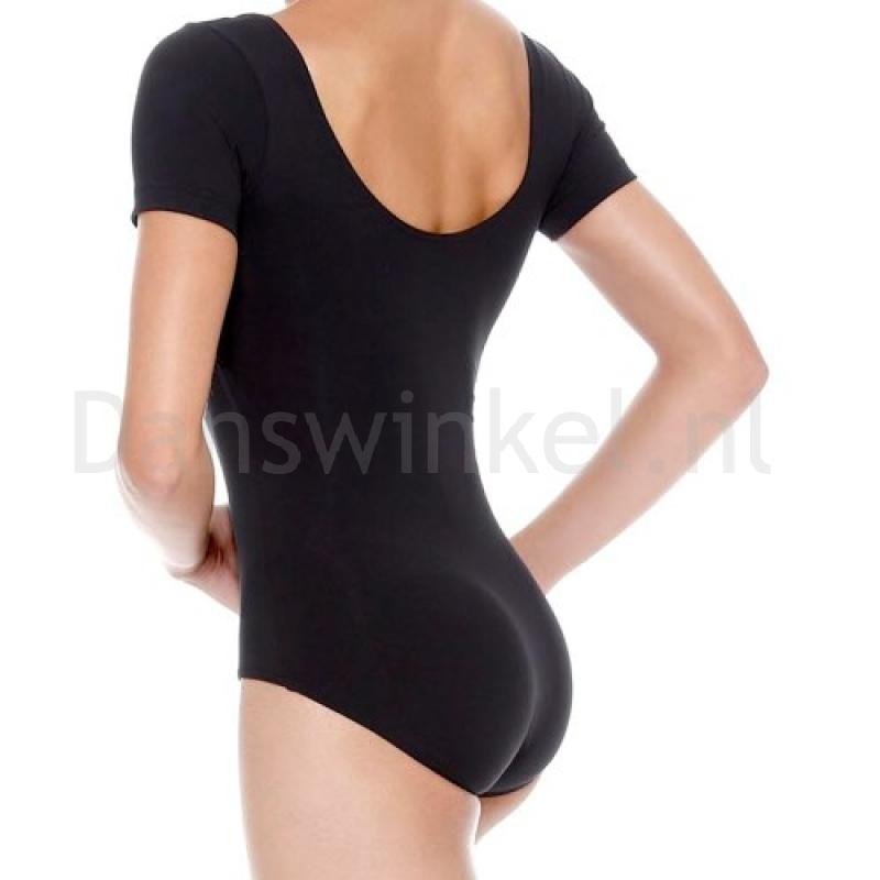 SoDanca RDE8002 zwart balletpakje hoge rug voor dames