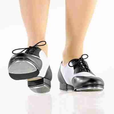 So Danca TA20 Tap dansschoen met Vetersluiting voor kinderen en volwassenen zwart wit