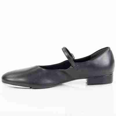 So Danca zwarte tapschoenen dames TA07 met bandje over wreef