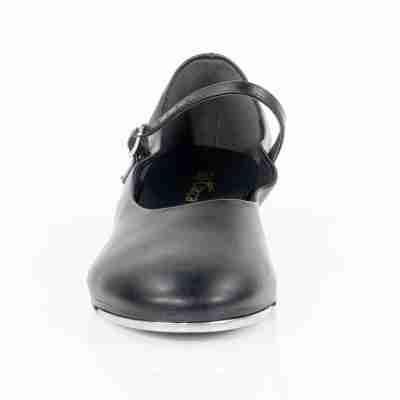 tapschoen met ronde neus dames model So Danca zwarte TA07 met enkelbandje en gespsluiting