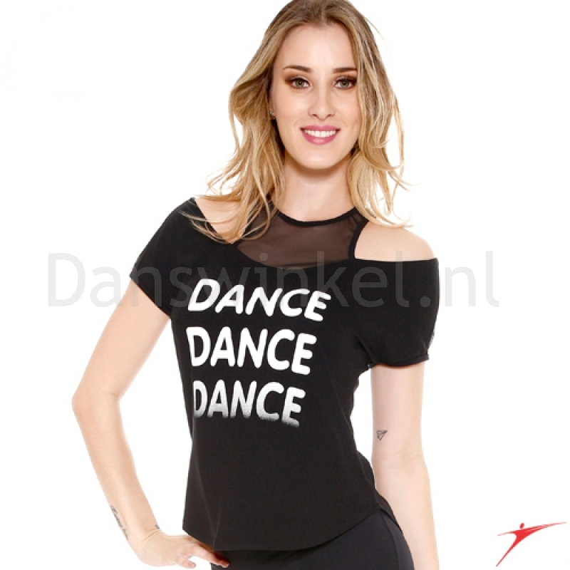 So Danca T-shirt met open schouders E11159