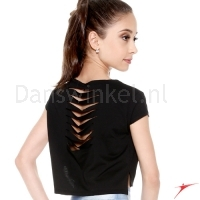 Crop top E11166 kinderen Black