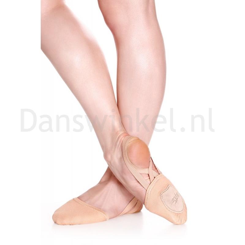 So Danca BA41 elastisch Canvas Teentjes dansvoetjes nude